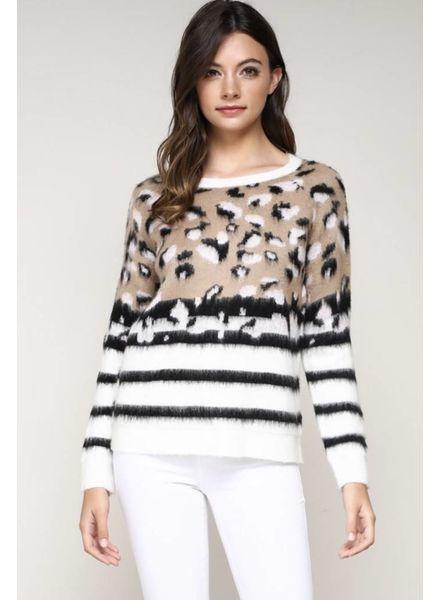 Misha Leopard Sweater