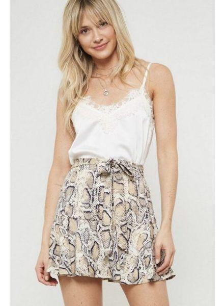 Tiana Snake Print Skirt