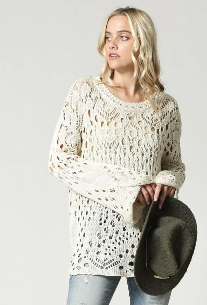 Amara Open-Knit Sweater