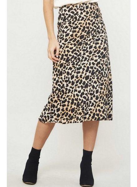 Thea Leopard Midi Skirt