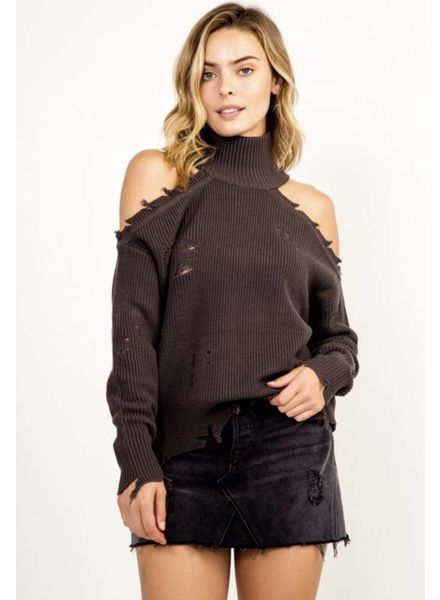 Rhea Cold Shoulder Sweater