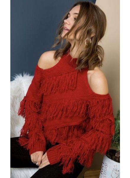 Kayden Cold Shoulder Sweater