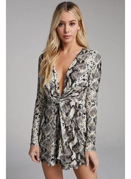 Talisa Python Print Dress