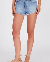 Shoreline High-Waist Denim Shorts