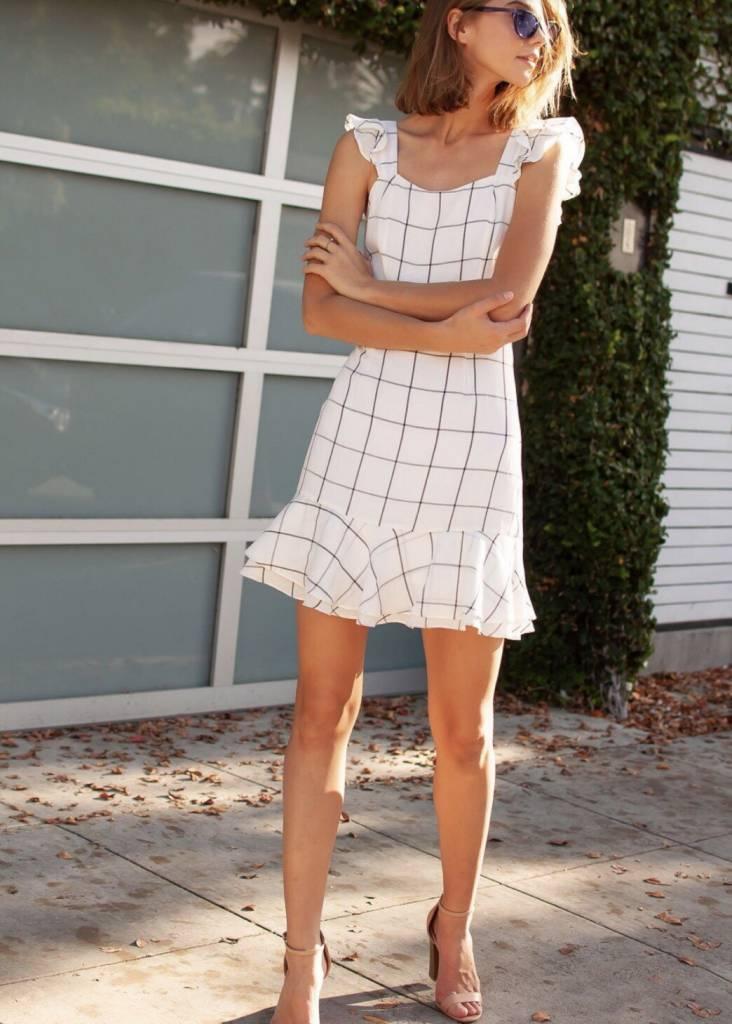 Hallie Window Pane Dress