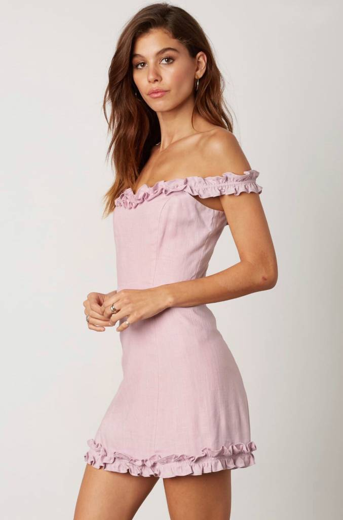 Nicola Ruffle Trim Dress