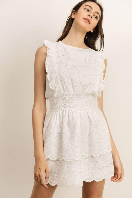 Imogen Eyelet Dress