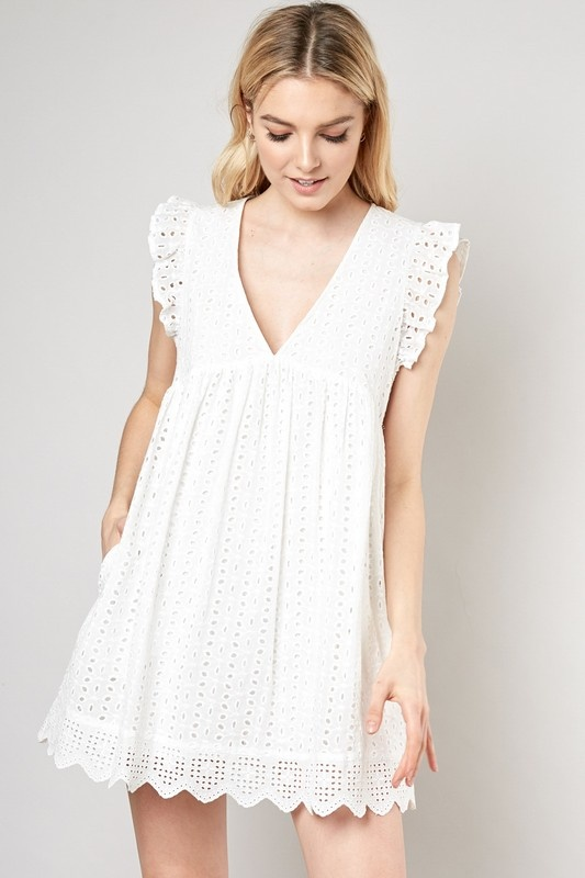 Juliette Eyelet Dress