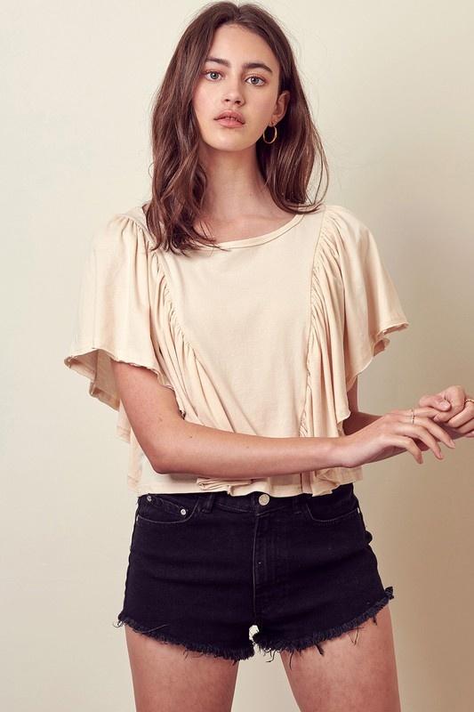 Eva Ruffle Sleeve Top
