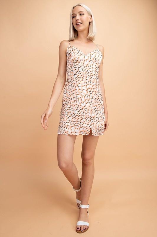 Orange Crush Leopard Dress
