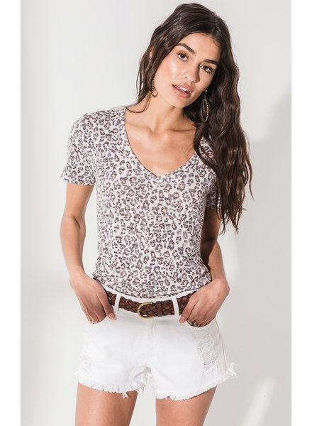 The Leopard V-Neck Tee