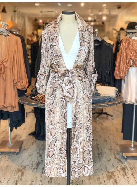 Serpentine Long Coat