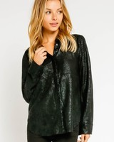 Kai Leather Blouse