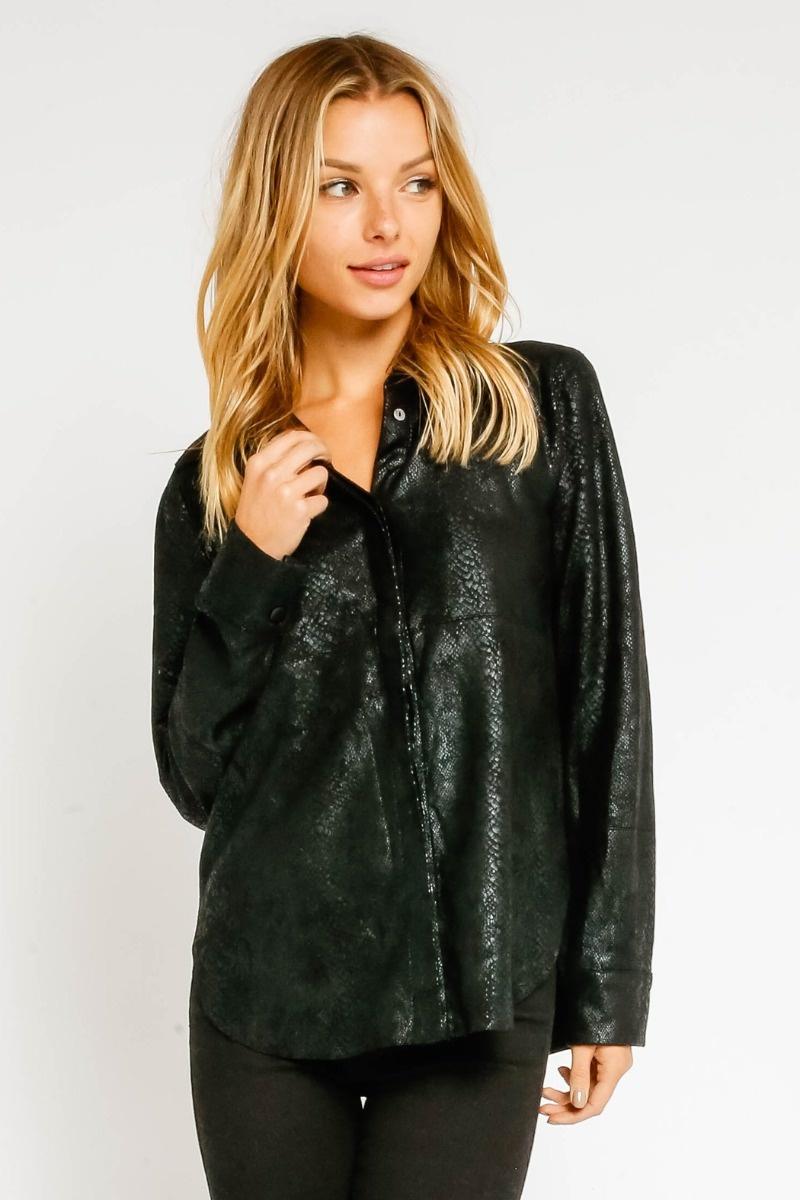 Kai Leather Blouse