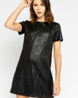 Kai Leather Shift Dress