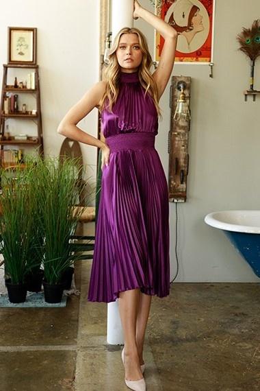 Monroe Pleated Dress