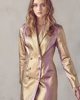 Shay Metallic Blazer Dress