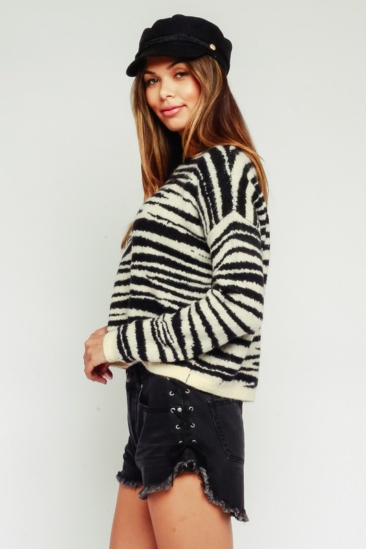 Quinn Zebra Sweater