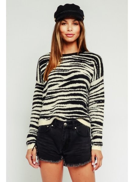 Quinn Zebra Sweater