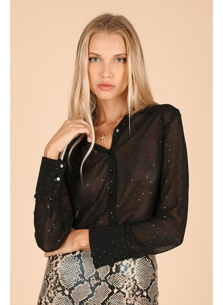 Midnight Sparkle Blouse