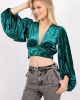 Giana Velvet Blouse
