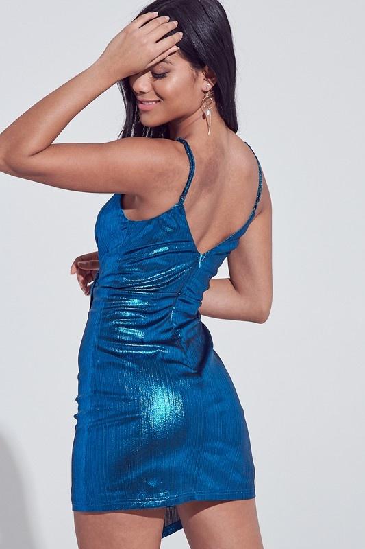 Teally Metallic Dress