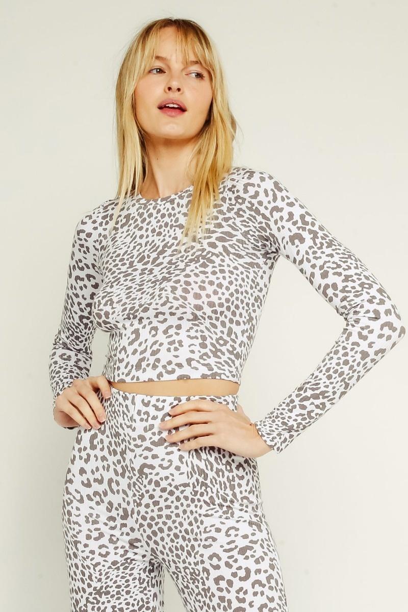 Ash Leopard Top