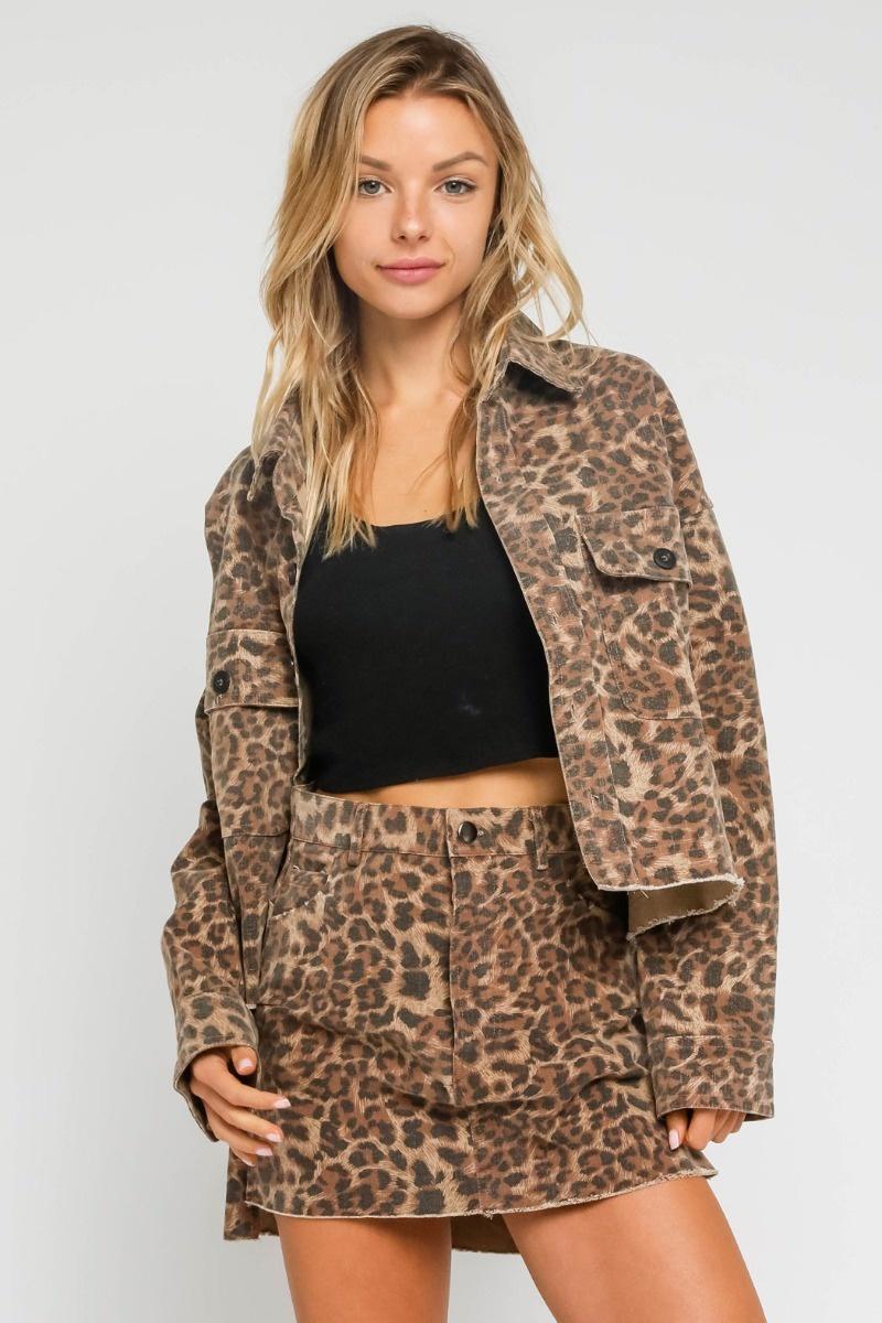 Jolie Leopard Skirt