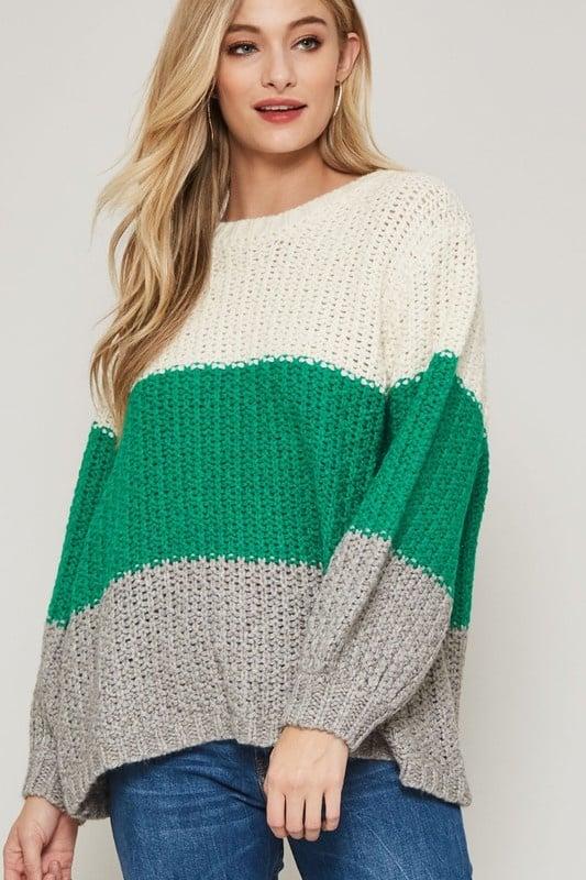 Leah Colorblock Sweater