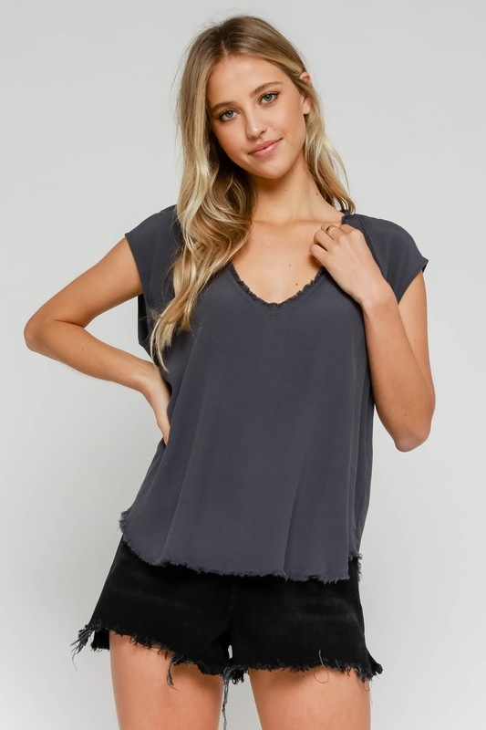 Taylor Frayed  Top