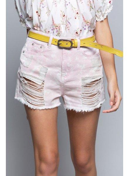 Pink Haze Denim Shorts