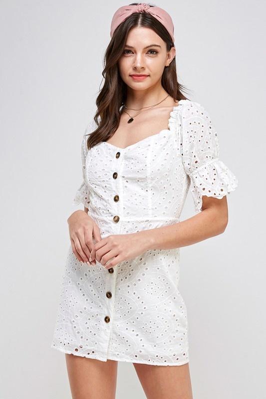 Kelsey Eyelet Dress