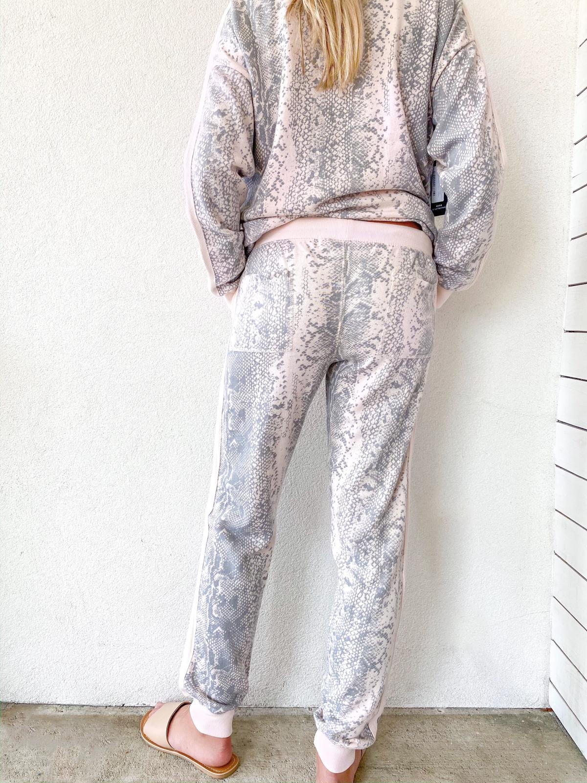French Terry Snakeskin Joggers
