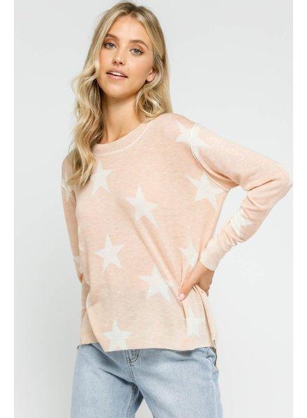 Sandy Star Knit Top