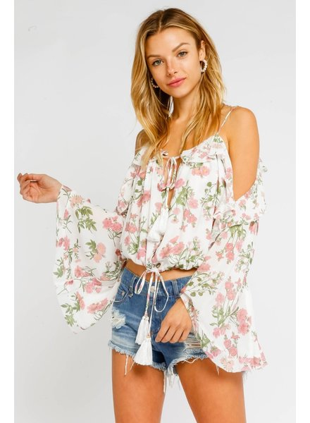 Emma Cold Shoulder Blouse