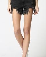 Sofie Black Heavy Fray Shorts