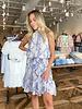 Azure Snakeskin Dress