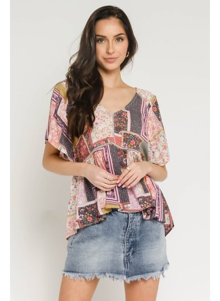 Kinley Patchwork Blouse