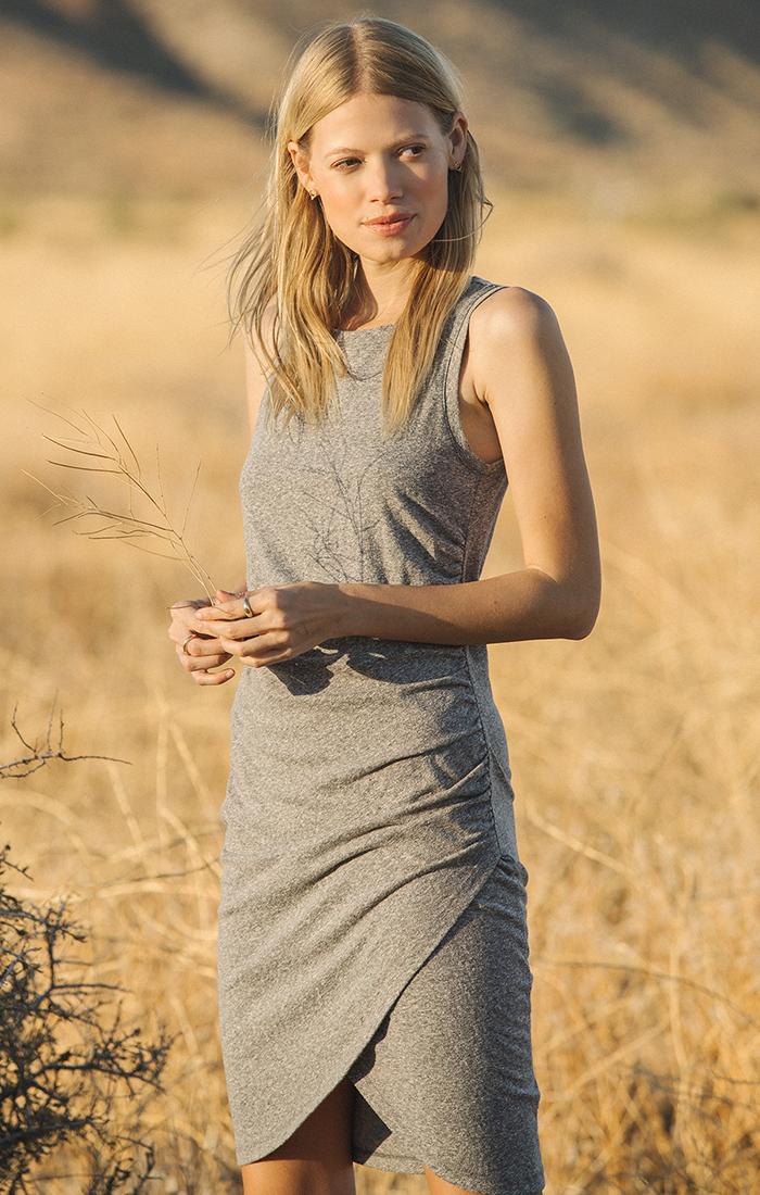 Triblend Tulip Midi Dress