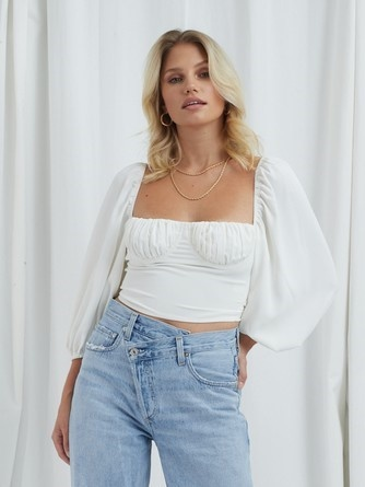 Aria Cropped Blouse