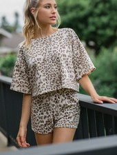 Purr Leopard Top