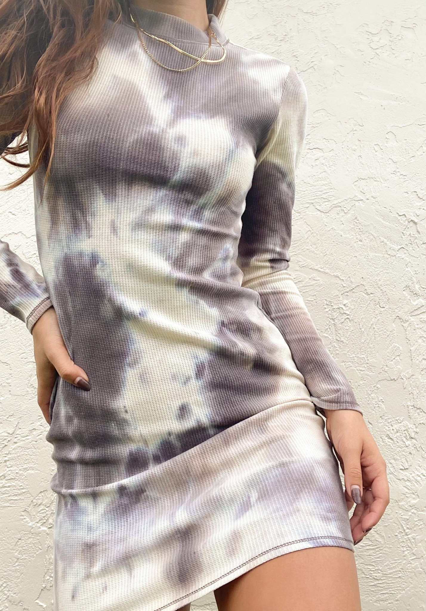 Stormy Waffle Knit Dress