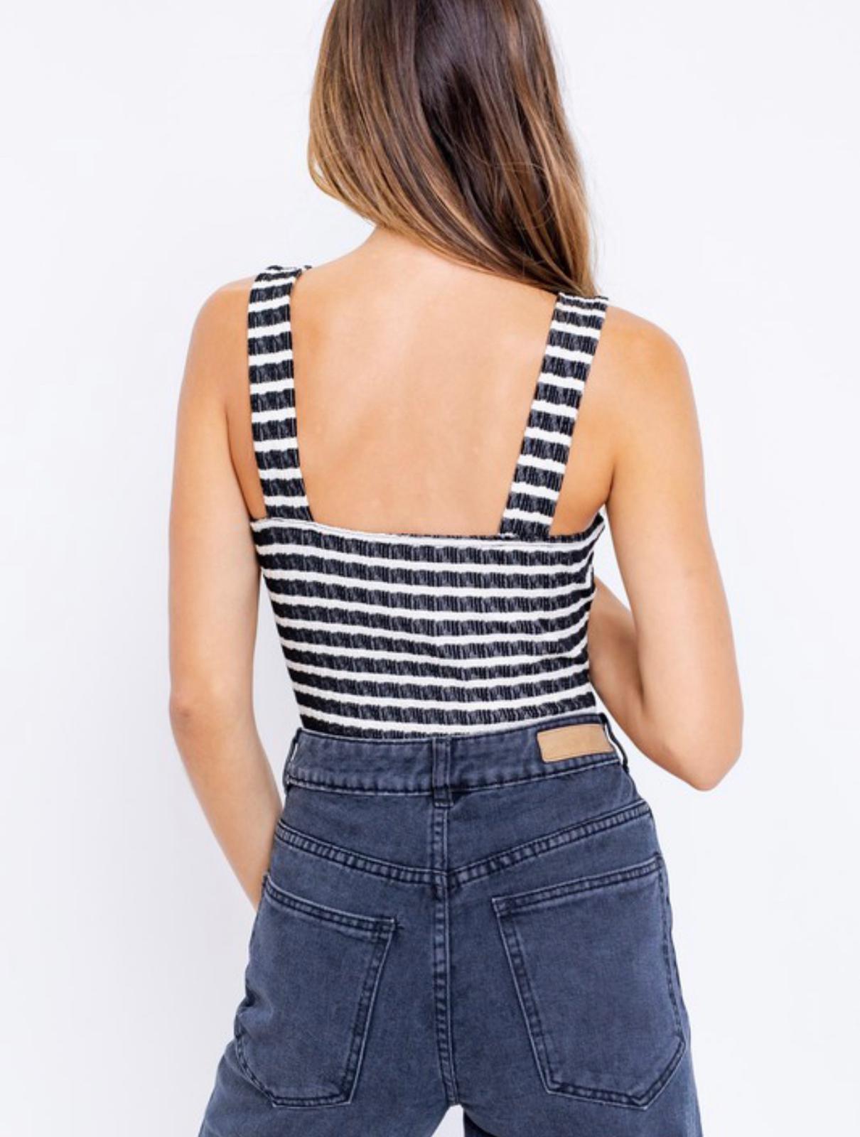 Aneesa Stripe Bodysuit