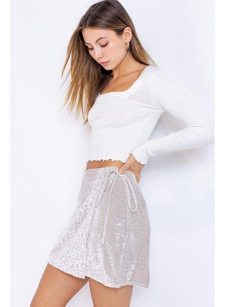 Heidi Wrap Velvet Skirt