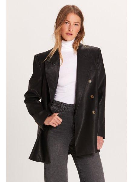 Paris Vegan Leather Blazer