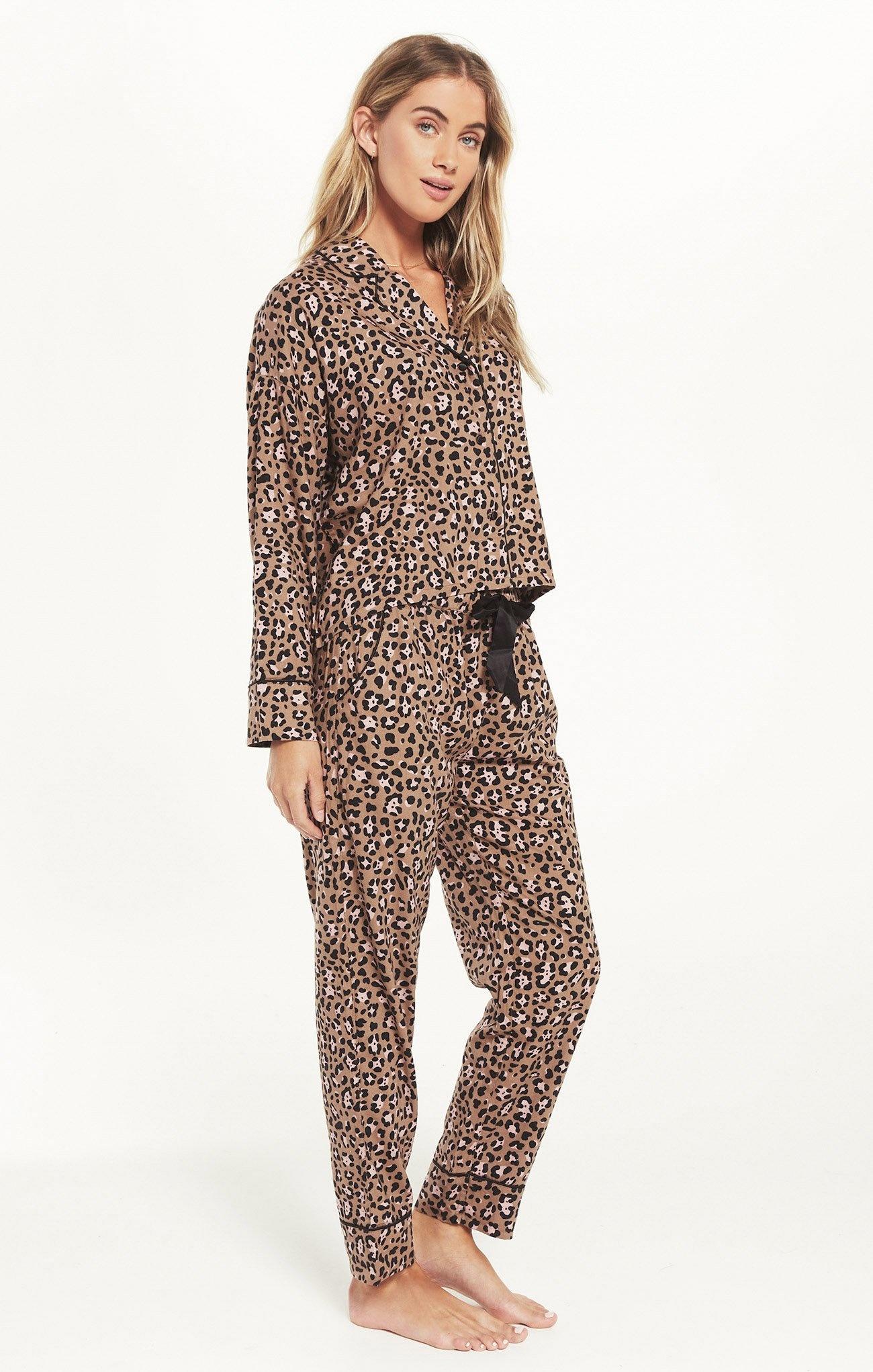 Dream State Leopard PJ Set