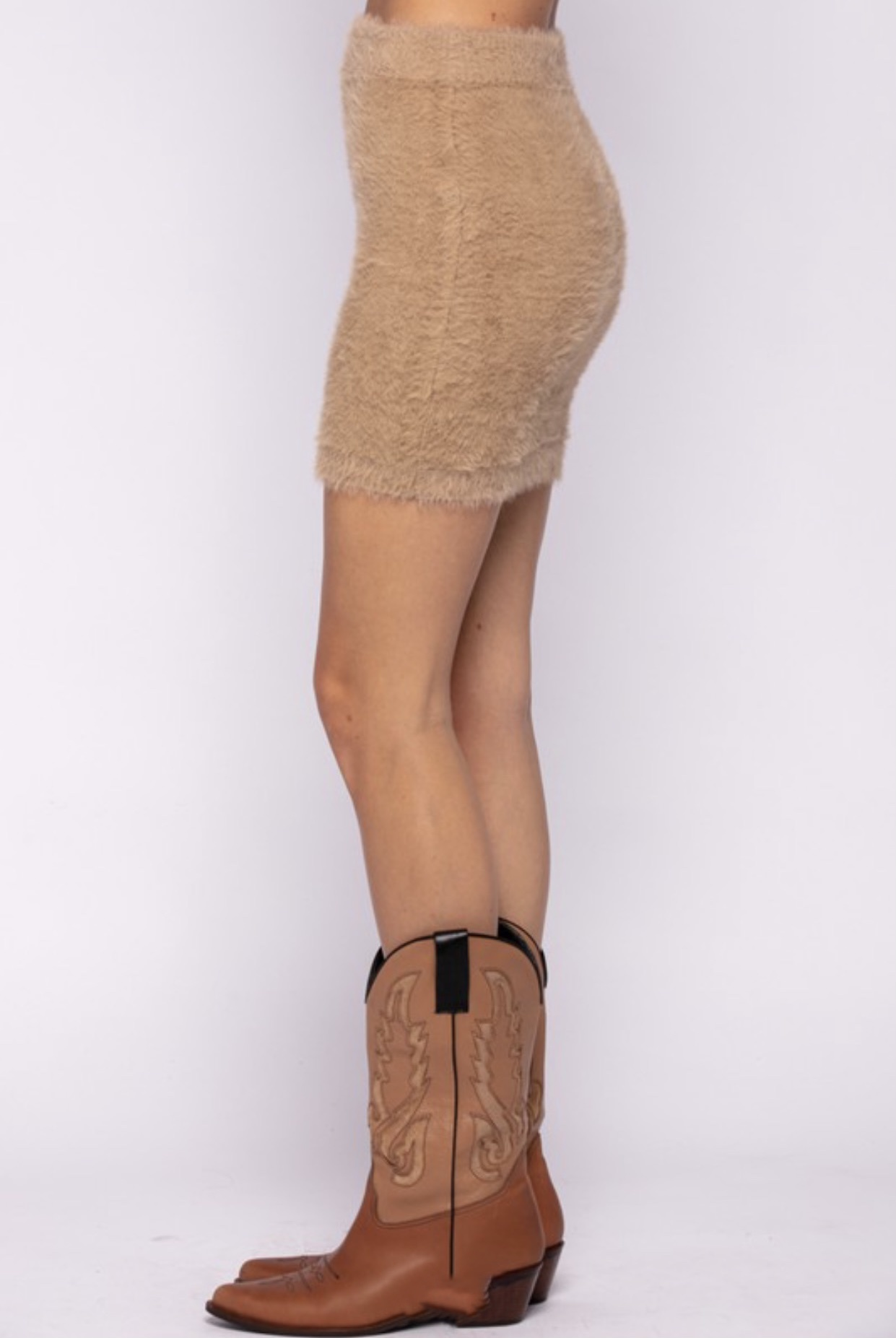 Juliette Fuzzy Mini Skirt