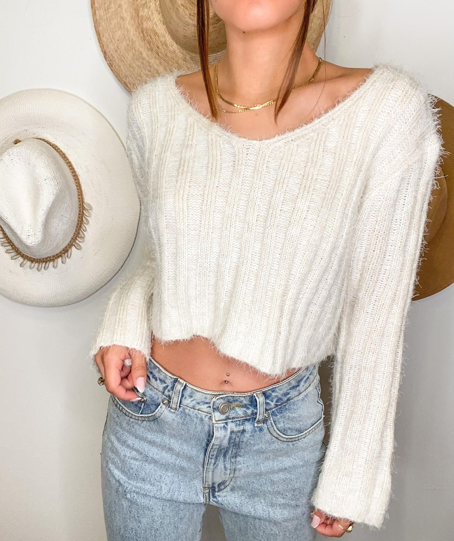 Fluff Crop Sweater