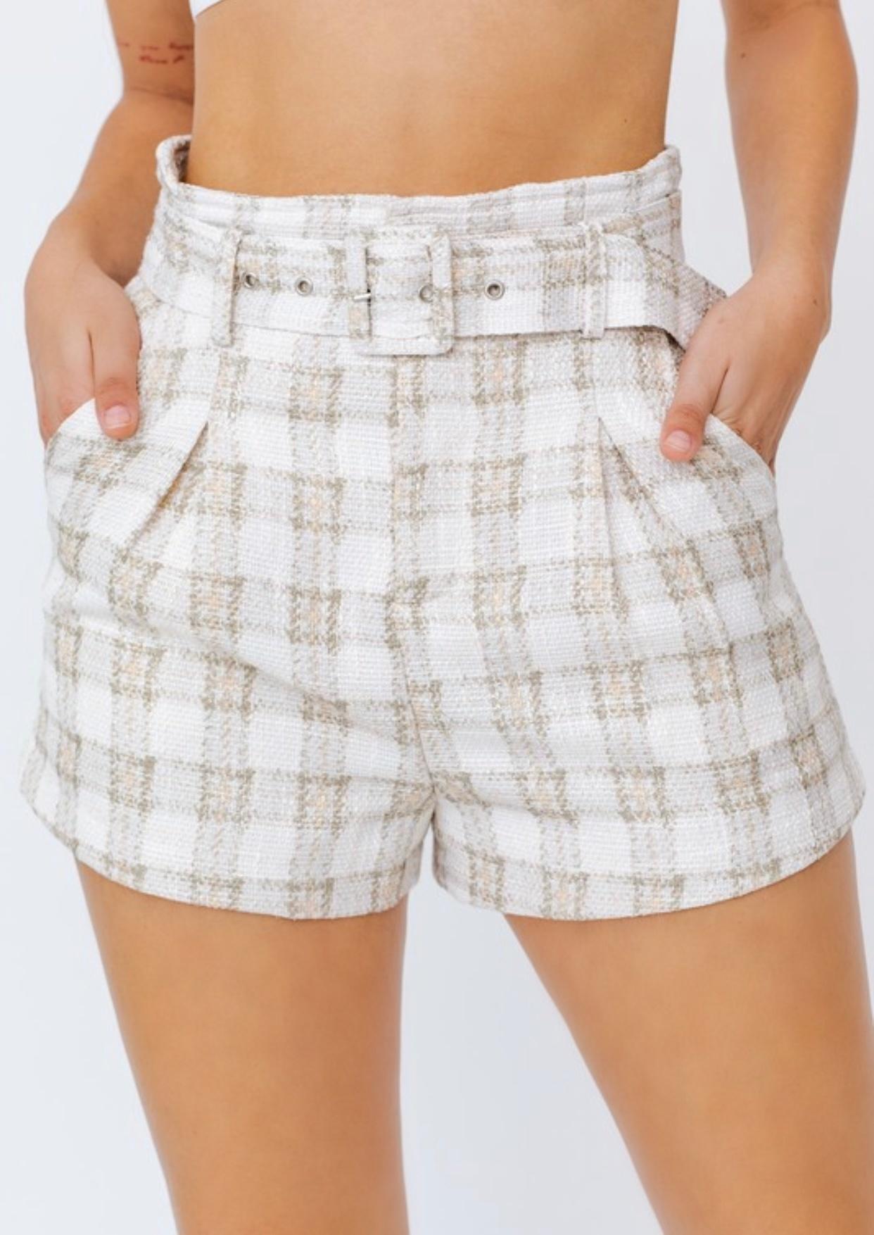 Alexa Plaid Shorts