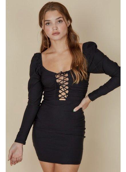 Soraya Lace-Up Dress